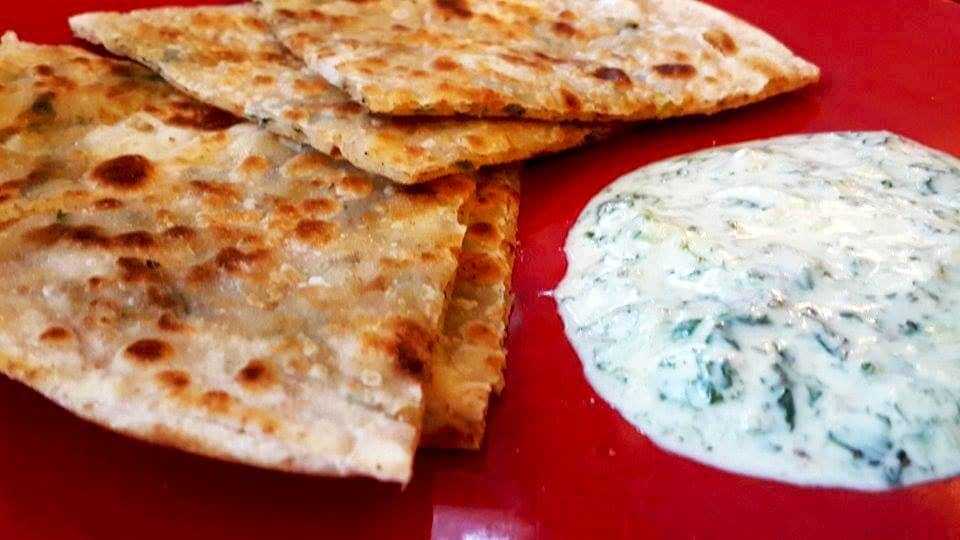 12.serve with podina raita/mint yogurt dip.
