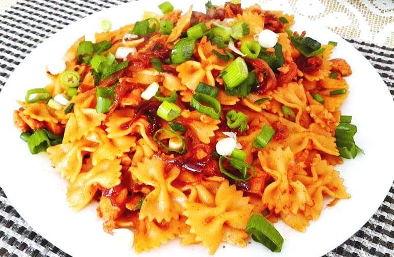 spicy tikka pasta 9
