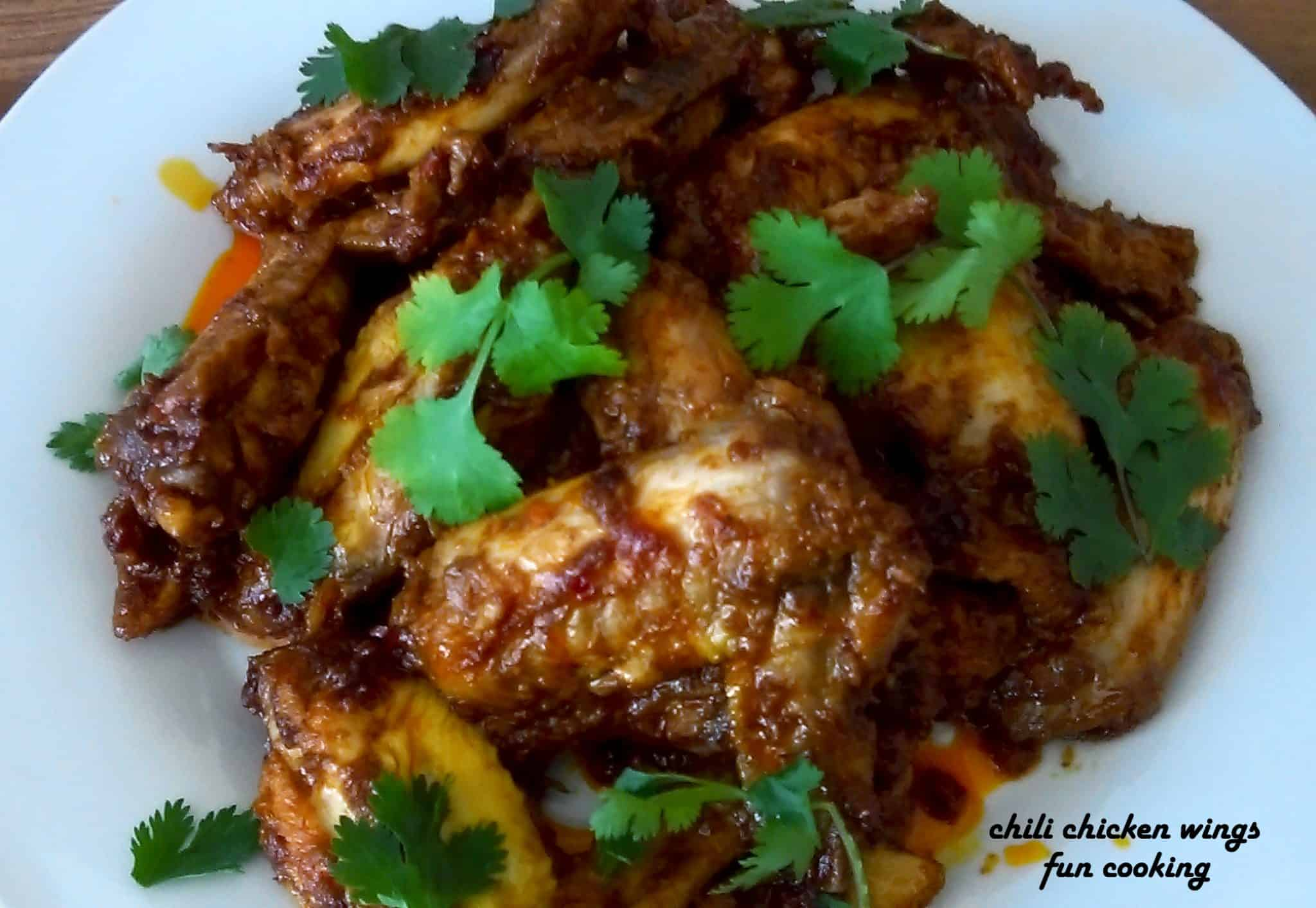 Chili Chicken Wings - Fun Cooking