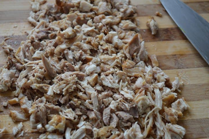 2. On a chopping board ,chop this chicken very small pieces.