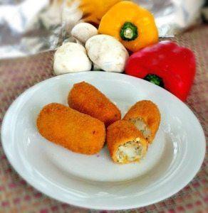 Mushroom Chicken Croquettes