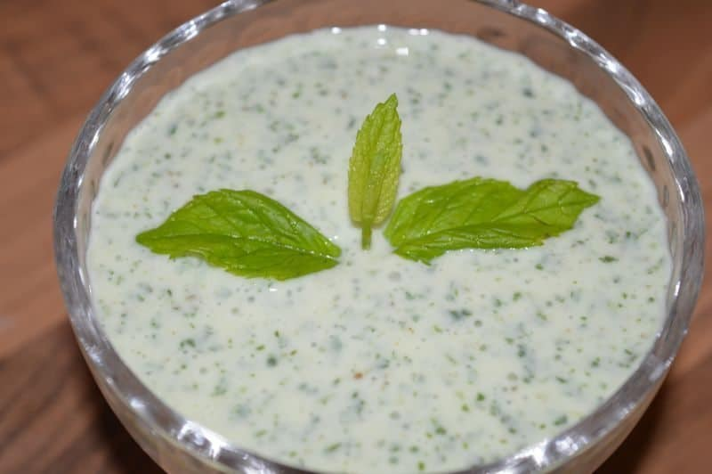 Podina Raita is ready ,take it out and keep it in fridge until serve.