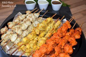 Chicken BBQ Platter Tikka boti/ Malai boti/ Tandori boti