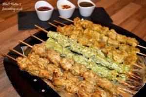 Chicken BBQ Platter Cheese boti , Haryali boti, Bihari boti