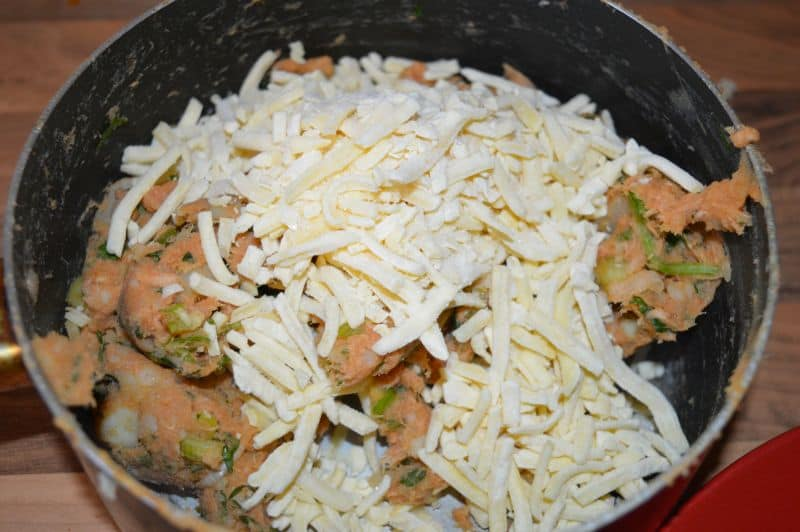 7. Now add cheese...mix with light hands.