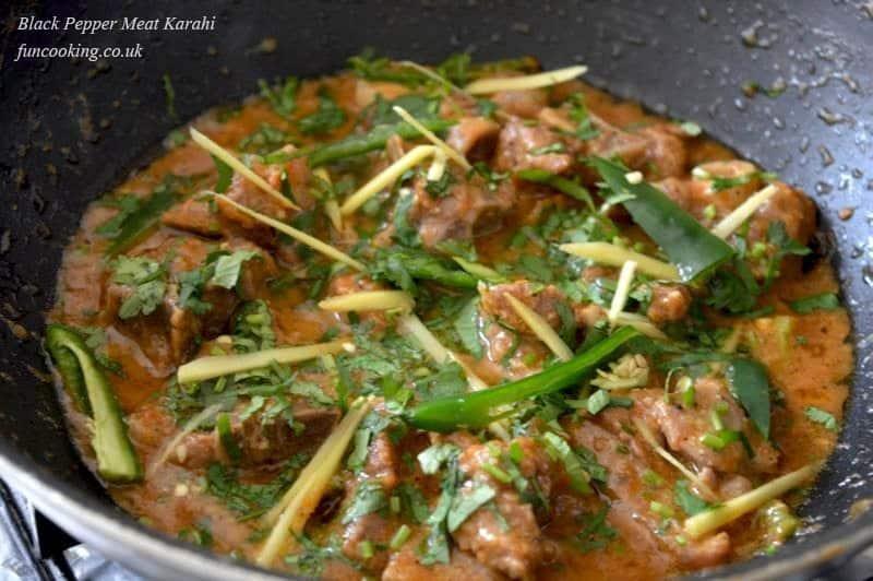 Black Pepper Meat Karahi