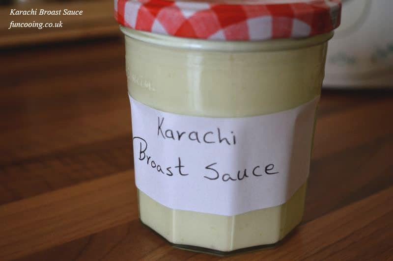 The famous sauce of karachi broast boat besan.