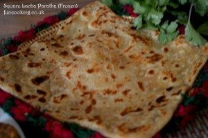 12. Square lacha paratha is ready.