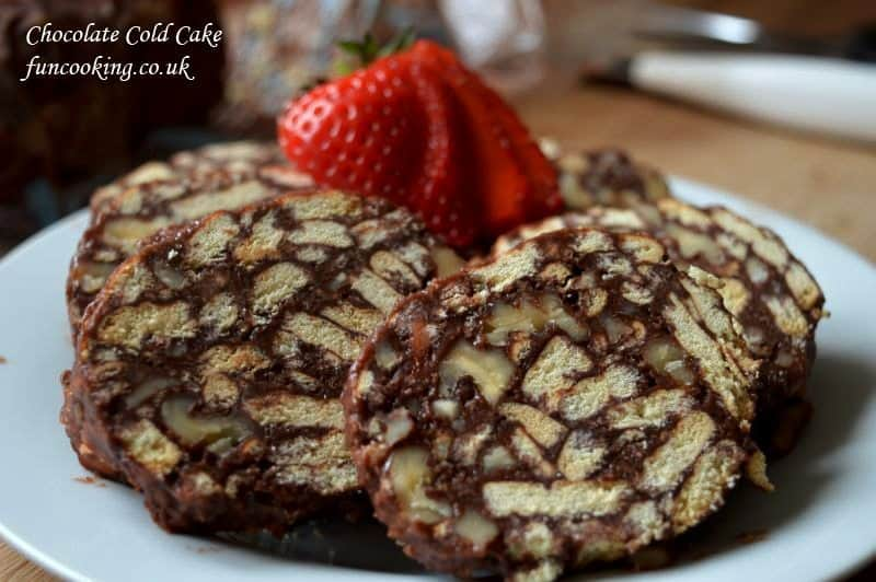 Cold Chocolate Cake With Marie Biscuits