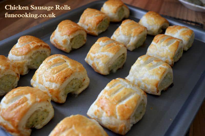 Chicken sausage rolls