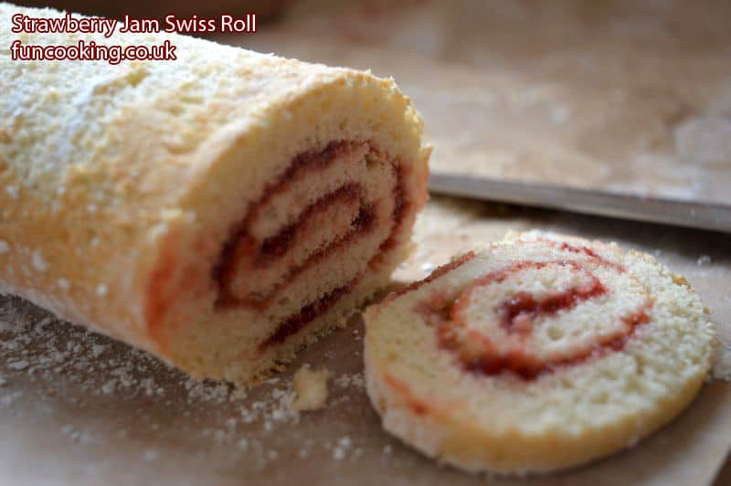 strawberry-jam-swiss-roll