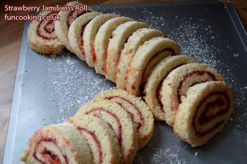 Strawberry Jam Swiss Roll سٹرا بیری جیم سوئس رول