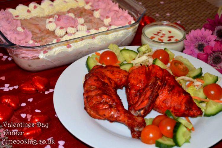 Valentines day food menu dinner
