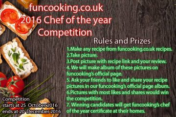 Funcooking chef of the year rules