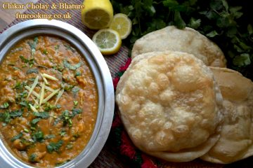 Chikar Cholay and Bhature چکڑ چھولے اور بھٹورے