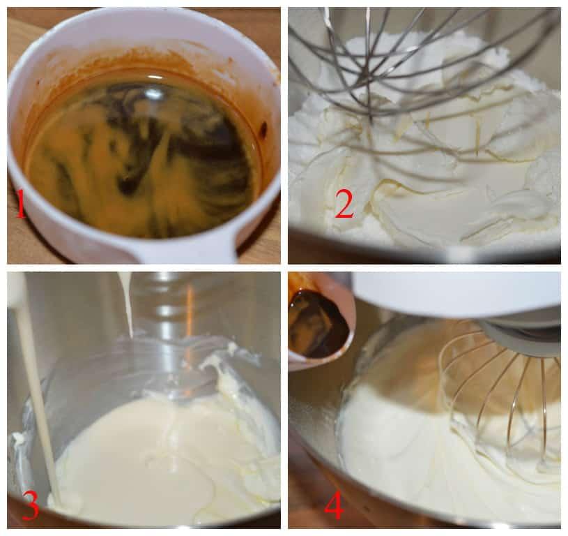 Coffee praline gateau