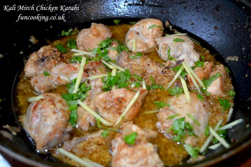 kali mirch chicken karahi