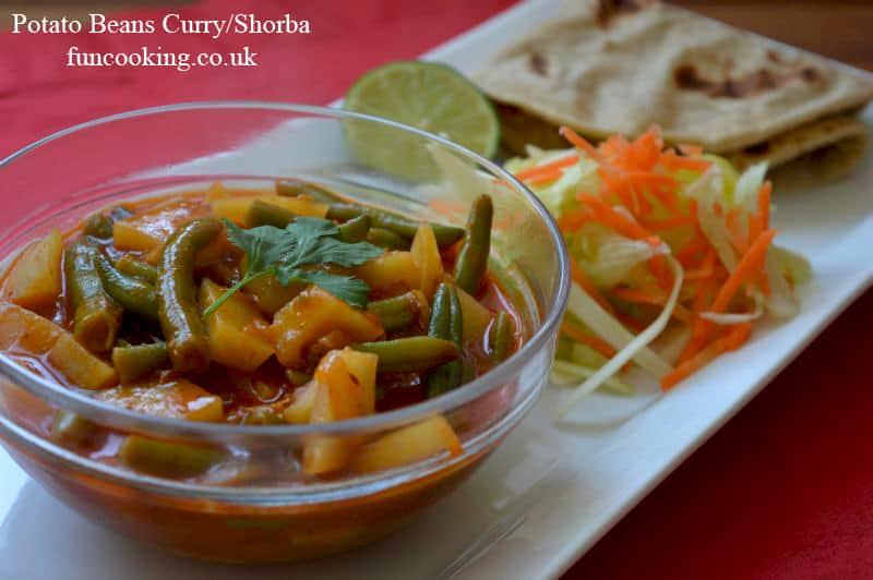potato beans curry shorba
