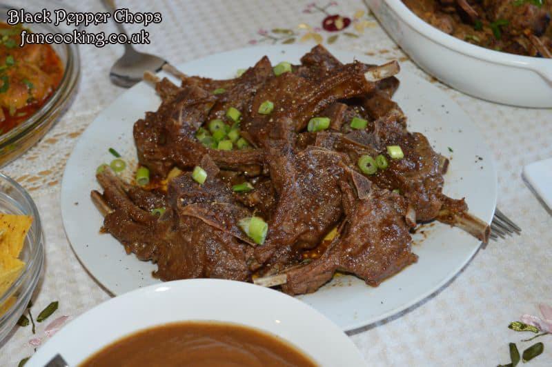 Black pepper mutton chops