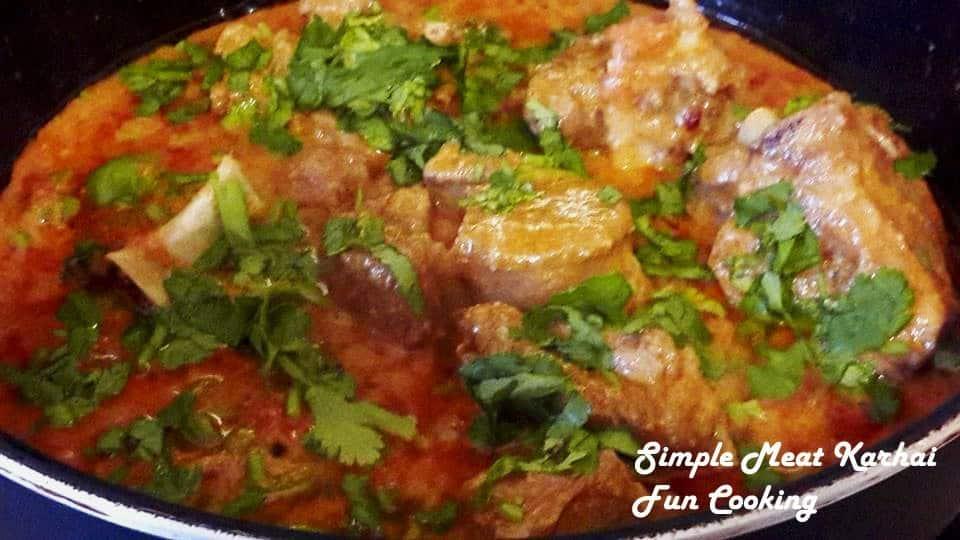 2.Simple Meat Karhai