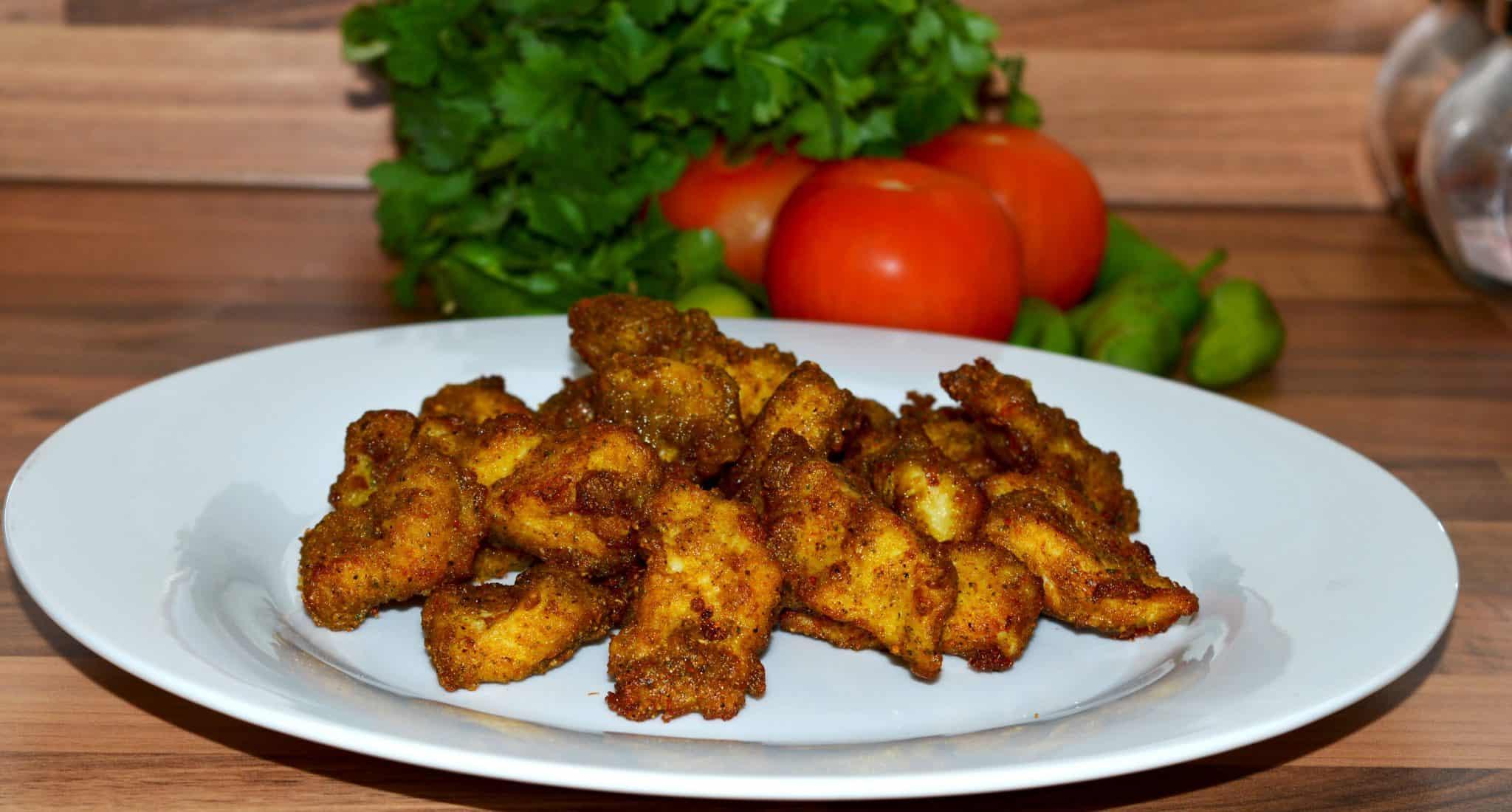 fry it in oil serve.