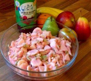 Jam-e-shirin cream fruit salad