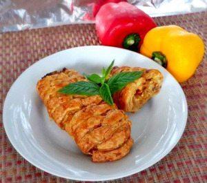 Mushroom and Chicken Criss-Cross pastry