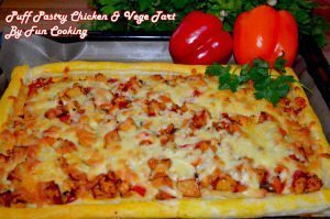 Puff Pastry Chicken and Vege Tart