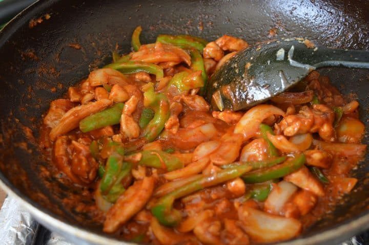 7. You can see there is no gravy in it, just a little bit sauce to cover chicken and vegetables. and original jalfrezi does not have any gravy in it but if you want gravy you can add water 1/4 cup ,its your choice.