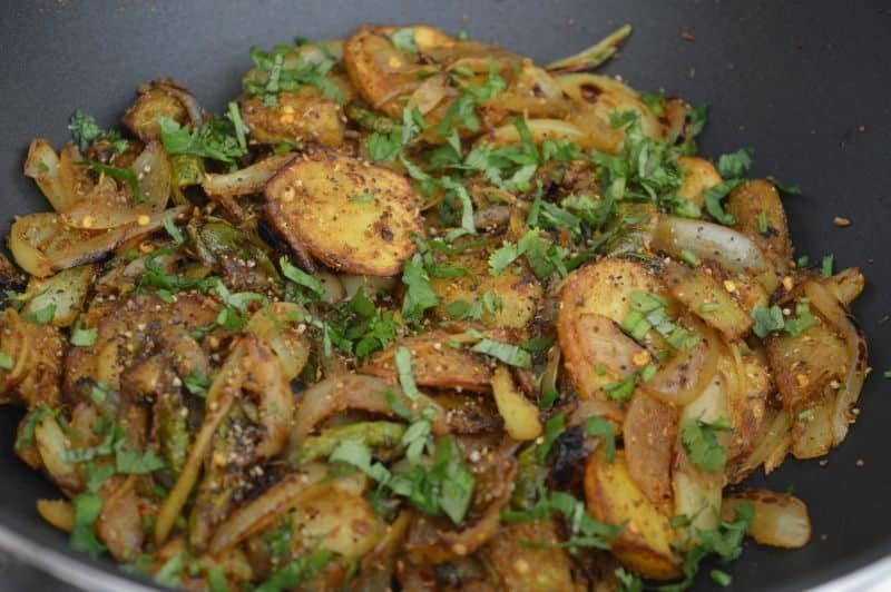 Stir Fry Bitter Gourd with Potato