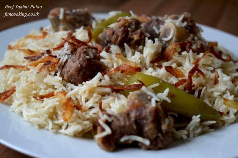 Beef yakhni pulao