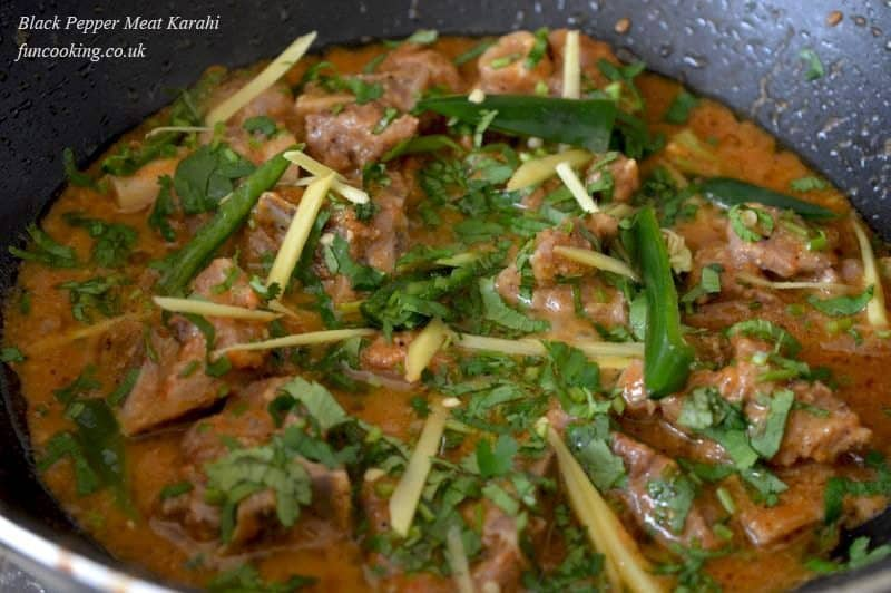 garnish with ginger and coriander...serve with naan