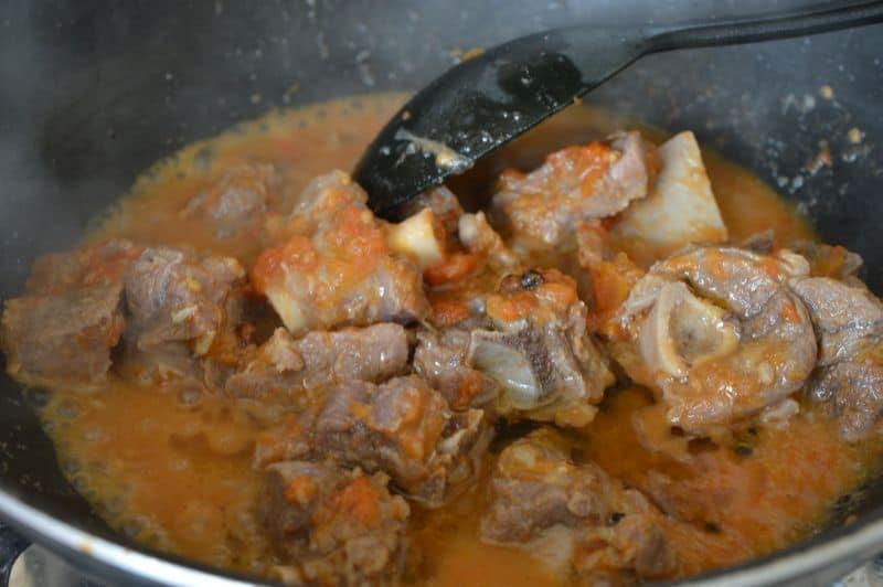 6. Transfer meat to a karahi.
