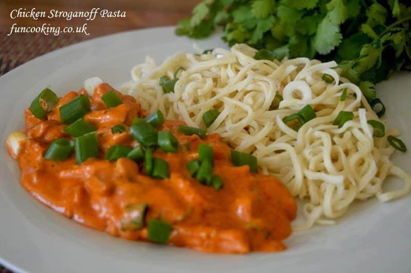 Chicken Stroganoff pasta