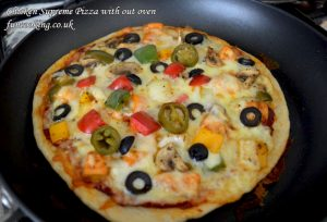 Chicken Supreme pizza with out oven