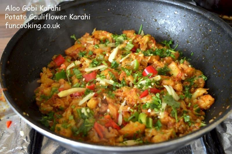 Aloo Gobi Karahi_ potato cauliflower curry