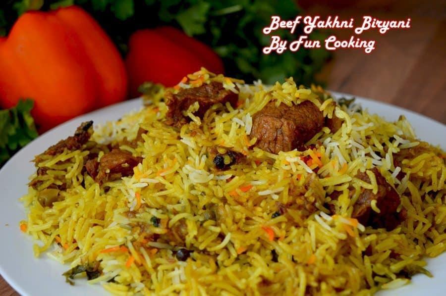 Beef Yakhni Biryani