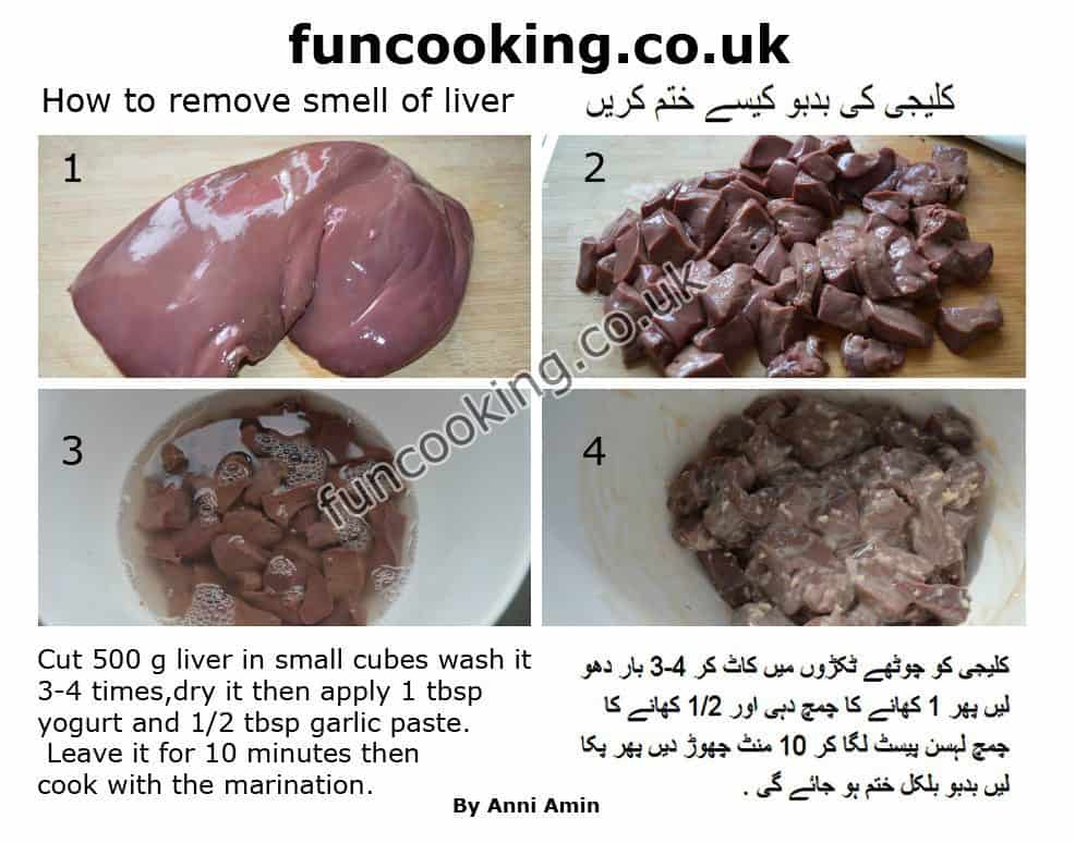 How to remove smell of liver