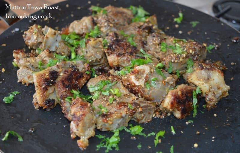 Mutton tawa roast