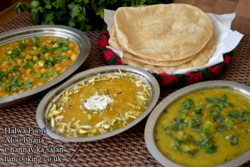 halwa-poori-with-aloo-bhajia-and-channa-salan-