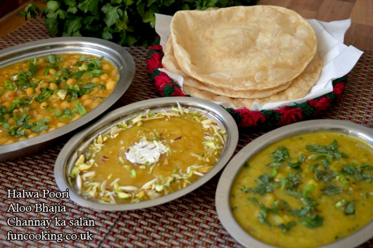halwa-poori-with-aloo-bhajia-and-channa-salan-