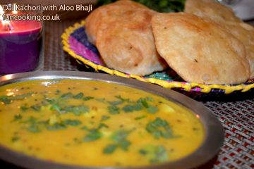 Dal kachori with potato curry