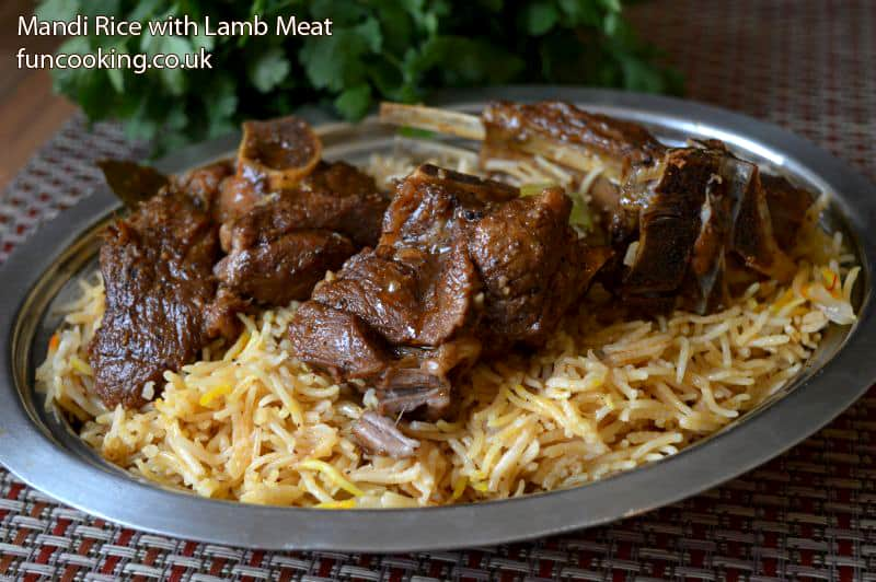 mandi rice with lamb meat 80 fun cooking