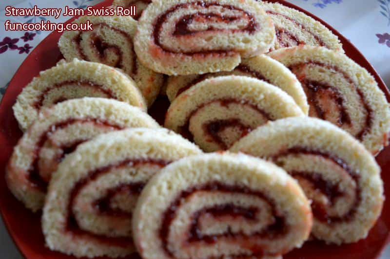 Strawberry Jam Swiss Roll سٹرا بیری جیم سوئس رول