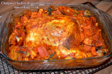 Chatpata Chicken Roast with vegetables