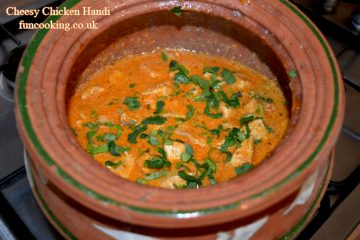 Cheesy Chicken Handi