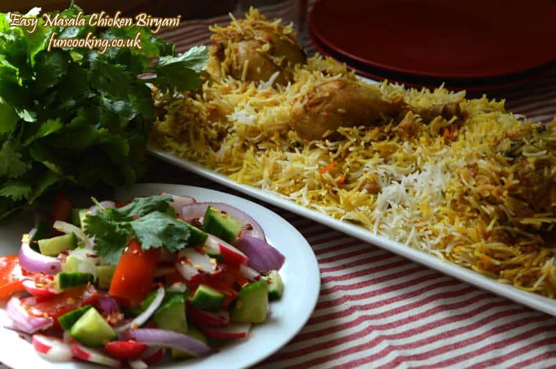 easy masala chicken biryani