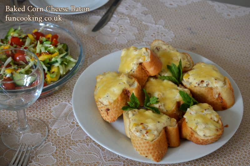 baked corn cheese baton