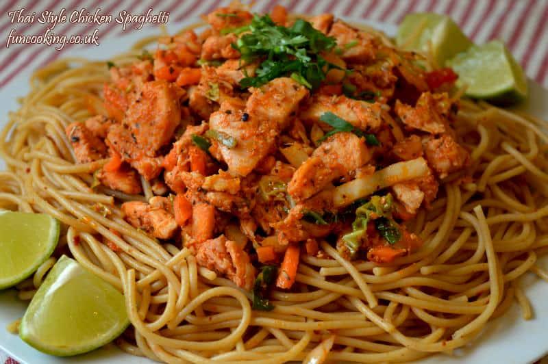 Thai style spaghetti