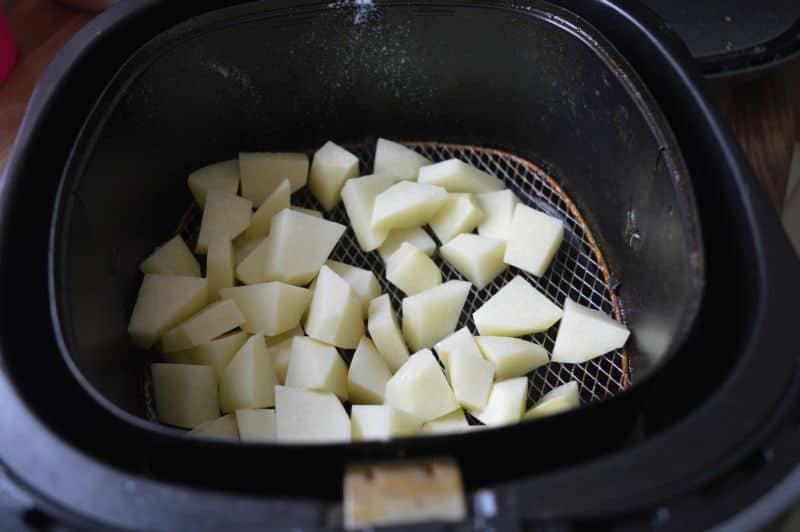 Mushroom potato karahi